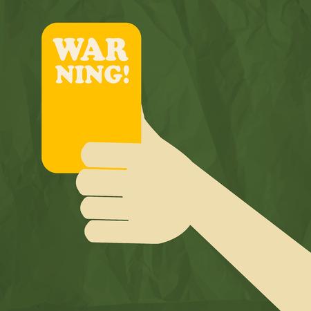 tarjeta amarilla: Tarjeta amarilla Vectores
