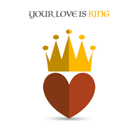 heart with crown: Heart crown Illustration
