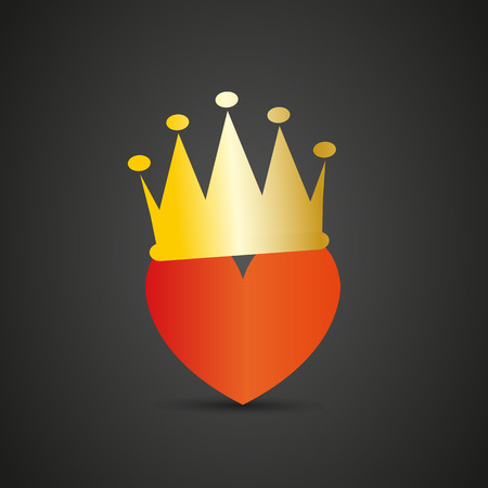 heart with crown: Heart with crown Illustration