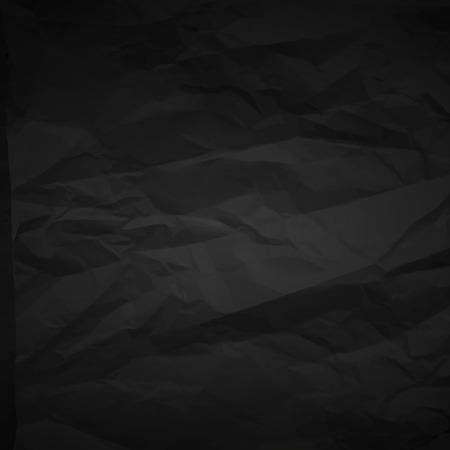 Black crumpled paper  イラスト・ベクター素材
