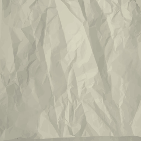 Crumpled paper sheet background Illustration