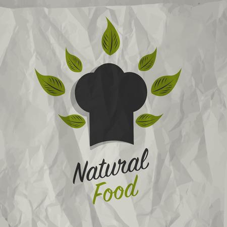 alimentacion natural: Dise�o del cartel del alimento natural de la vendimia Vectores