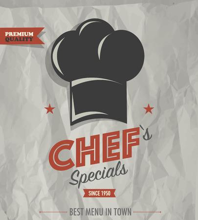 Restaurant cafe bar chefs specials Ilustrace