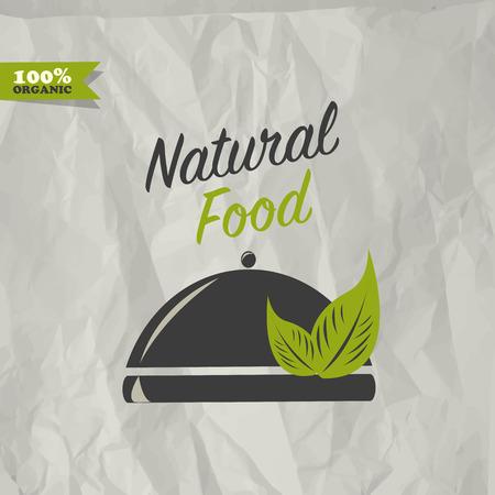 alimentacion natural: Dise�o de alimentos Natural Vectores