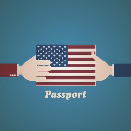 emigration: US Passport Illustration