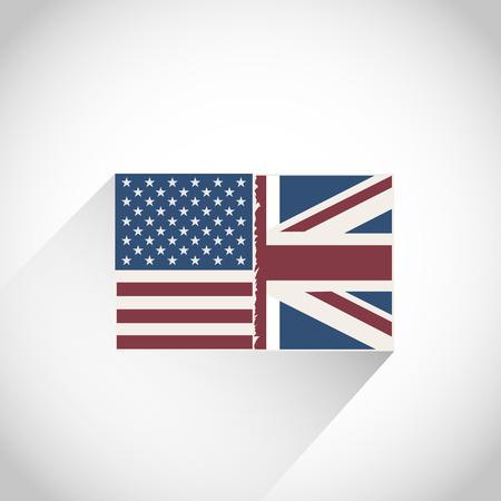 bandera de gran breta�a: EE.UU. con Gran bandera de Gran Breta�a