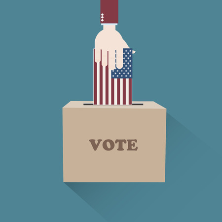 presidential: Usa American Presidential Elections Illustration