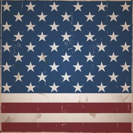 bandera estados unidos: Rayas y estrellas Fondo de la vendimia Vectores