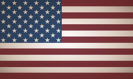 beige stof: Beige Usa Flag Stock Illustratie