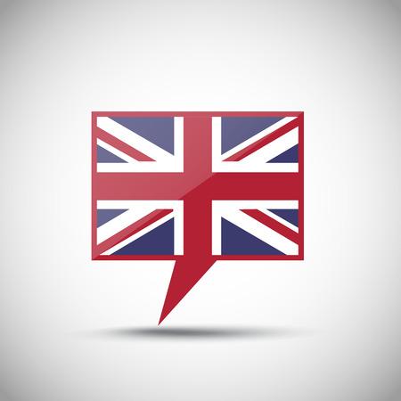 speak english: English Flag Speech Bubble Illustration