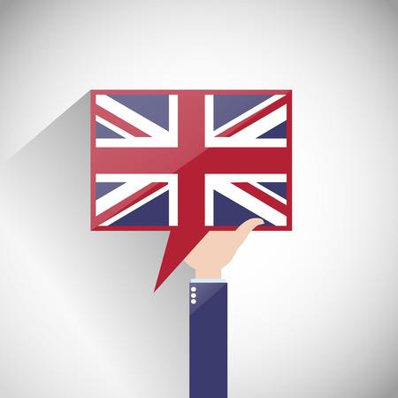 uk: UK English Flag Speech Bubble