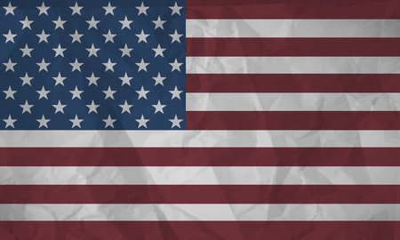 wrinkle: Paper Flag of the United States of America Illustration