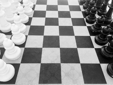 battle plan: Chess setup Stock Photo