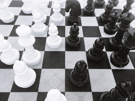 chess board: Chess board game strategy Stock Photo