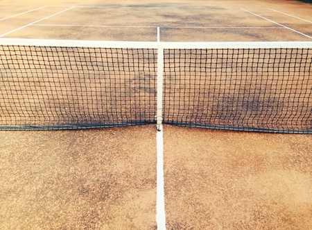 tennis clay: Old tennis clay court
