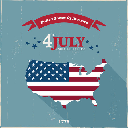 independence day: 4th July Design Illustration