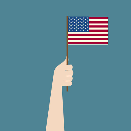 oneness: American flag in hand