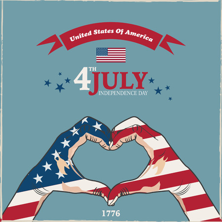 4th: 4th July Usa Illustration