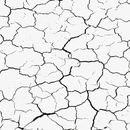 cracked earth: Cracked seamless texture Illustration