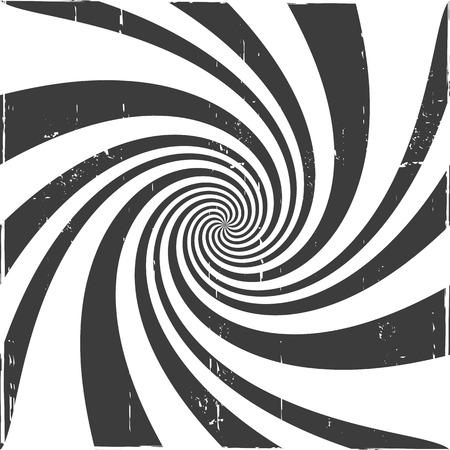 hallucinogen: Spiral optical illusion background Illustration
