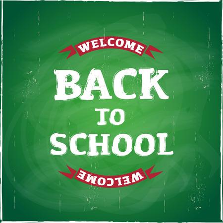 acogida: Bienvenido de nuevo al colegio Vectores