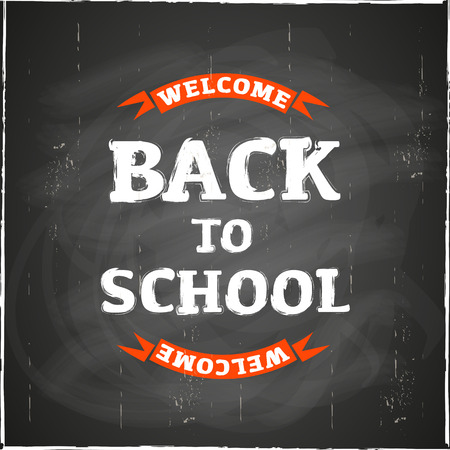 back to school: Back to School Blackboard Illustration