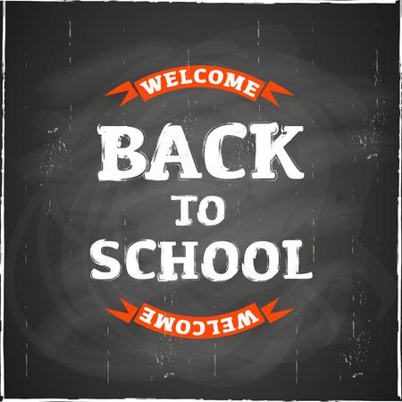 utiles escolares: Volver a la pizarra de la escuela