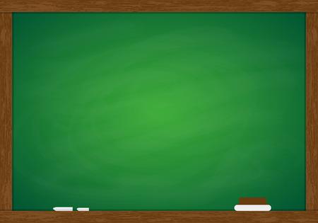 blackboard: Marco de la pizarra verde Vectores