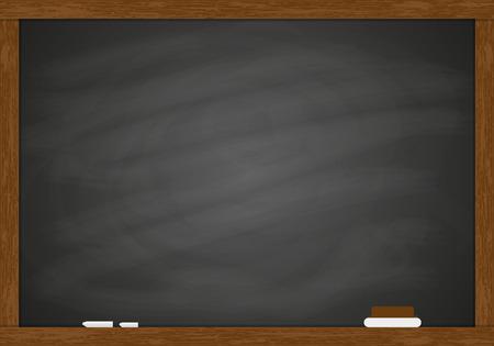 Chalk rubbed out blackboard
