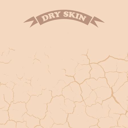 Droge Skin Design Stock Illustratie
