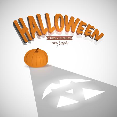 carved pumpkin: Halloween Pumpkin Illustration