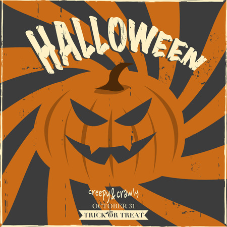 Halloween vector illustration design  イラスト・ベクター素材