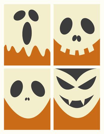 halloween background: Halloween Masks Background