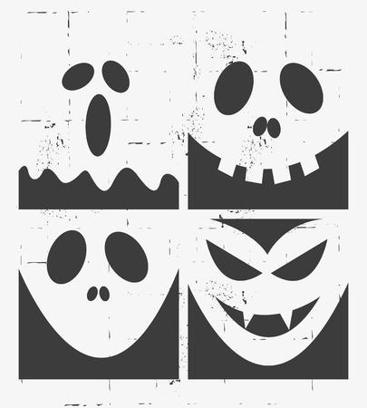 Halloween Masks Set Design