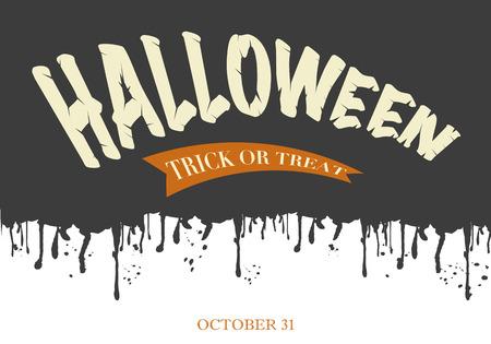 Halloween Text Banner  イラスト・ベクター素材