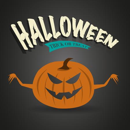 Halloween pumpkin jack lantern