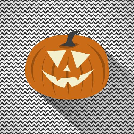 Halloween Pumpkin with Zig Zag Background  イラスト・ベクター素材