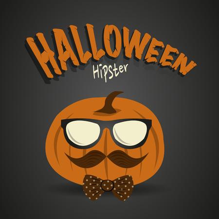 Halloween Hipster Ilustrace