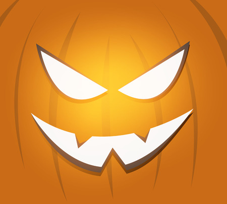 scary pumpkin: Halloween scary pumpkin face background