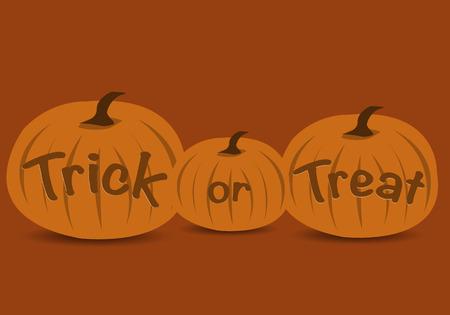 treats: Truco o texto de halloween con calabazas