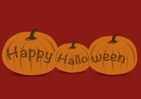 Happy Halloween Pumpkins Ilustrace