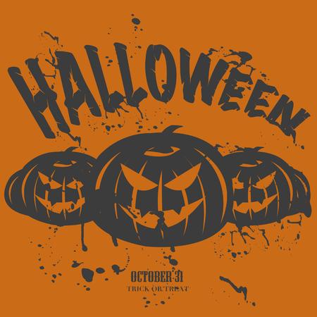 Grunge Halloween Party Card  イラスト・ベクター素材