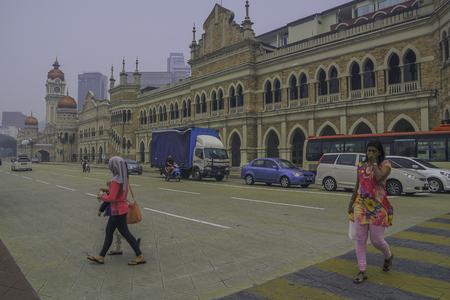 Kuala Lumpur in haze period