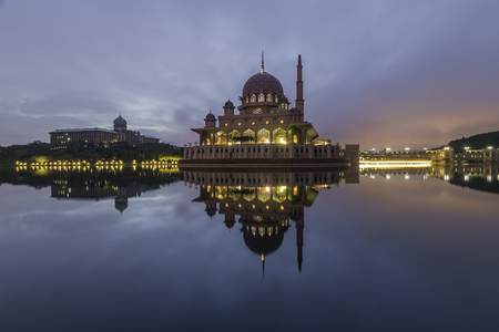 Putra Mosque in majestic bluehour