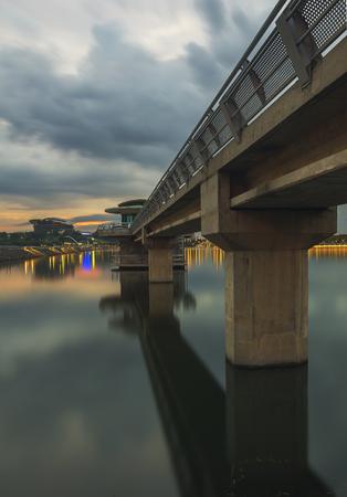 Putrajaya Dam suction pump dam Imagens