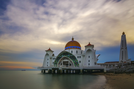 mosque with a nice cloud scenery