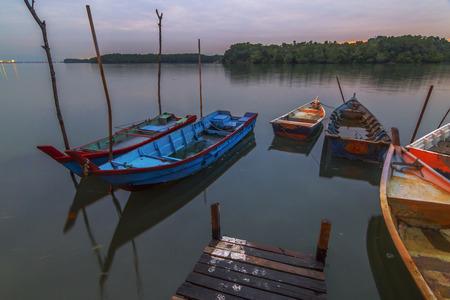 Fisherman boat at the fisherman jetty village