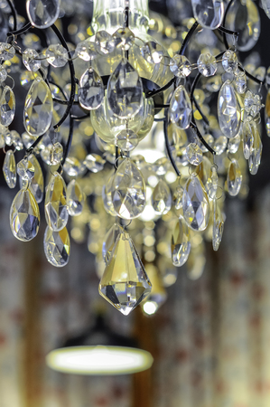 close up on nice chandelier