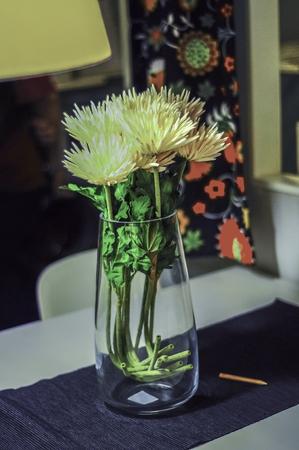 Flower in clear glass vass