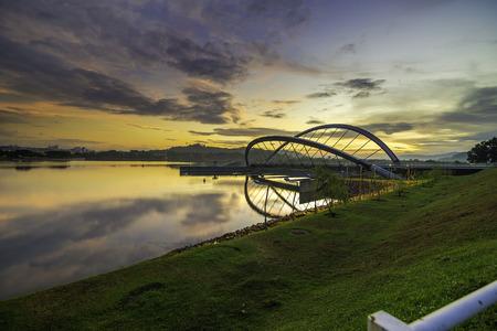 Scenery sunset / sunrise view at Putrajaya Butterfly Dam